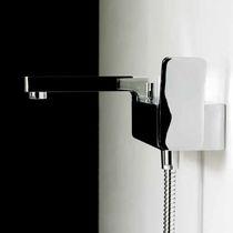 Einhebelmischer für Duschen / für Badewanne / Wandmontage / verchromtes Metall
