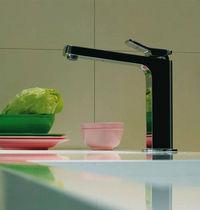 Einhebelmischer / verchromtes Metall / aus Messing / aus Nickel / Küchen