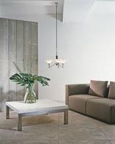 Moderner Lüster / Glas / Messing / aus Chrom