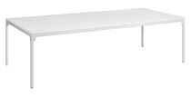 Moderner Tisch / Stahl / aus Eiche / lackiertes Holz