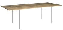 Moderner Tisch / aus Eiche / Nussbaum / Massivholz