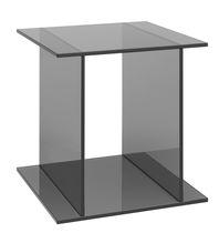 Moderner Beistelltisch / Glas / quadratisch / für öffentliche Einrichtungen