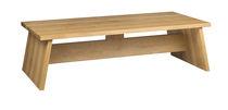 Moderner Couchtisch / aus Eiche / Nussbaum / Massivholz