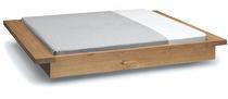 Standardbett / doppelt / modern / Holz, gewachst