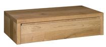 Moderner Nachttisch / aus Eiche / Nussbaum / geöltes Holz