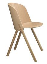 Moderner Stuhl / Polster / aus Eiche / geformtes Sperrholz