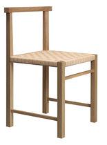 Moderner Stuhl / aus Eiche / Massivholz / Nussbaum