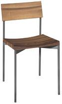 Moderner Stuhl / Stapel / aus Eiche / geöltes Holz