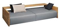 Modernes Sofa / Leder / aus Eiche / Massivholz