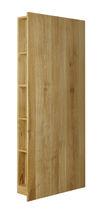 Modernes Regal / aus Eiche / Massivholz / Nussbaum