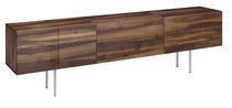 Modernes Sideboard / aus Eiche / Nussbaum / Massivholz