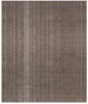 Moderner Teppich / Streifenmuster / Wolle / Seide