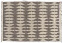 Moderner Teppich / Motiv / Wolle / rechteckig
