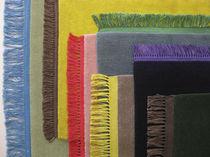 Moderner Teppich / uni / Wolle / rechteckig