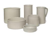 Moderne Vase / aus Sandstein
