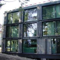 Metall-Sonnenschutzlamelle / Metallgewebe / für Fassaden / horizontal