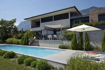 Teileingebautes Schwimmbecken / Beton / für Hotels / für Außenbereich