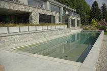 Erdverlegtes Schwimmbecken / Beton / für Hotels / Schwimmbahn