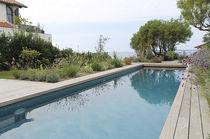 Erdverlegtes Schwimmbecken / Beton / für Hotels / Mosaik