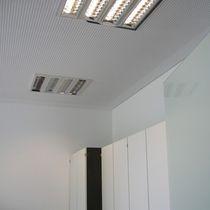 Leuchte für Deckeneinbau / fluoreszierend / quadratisch / Aluminium