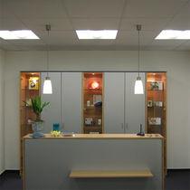 Hängelampe / modern / Aluminium / Glas