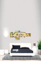 Moderne Wandleuchte / aus Aluminiumguss / LED / rechteckig