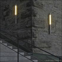 Moderne Wandleuchte / Außenbereich / Edelstahl / aus Polycarbonat