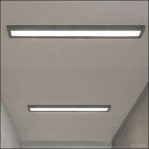 Moderne Deckenleuchte / linear / Aluminium / aus Acrylglas
