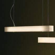 Hängeleuchte / fluoreszierend / rechteckig / Metall