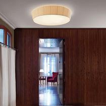 Moderne Deckenleuchte / rund / Baumwolle / LED