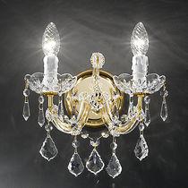 Klassische Wandleuchte / aus Kristall / Glühlampen