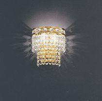 Stil-Wandleuchte / aus Nickel / aus Kristall / Glühlampen