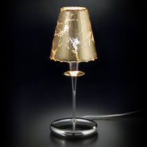 Tischlampe / modern / Glas / Metall