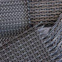 Metall-Geflecht / für Innenausbau / für Wände / Edelstahl / Messing