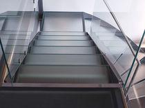 Glasscheibe für Stufen / rutschfest / Float