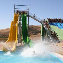 Gerade Rutsche / für Aquapark / für hohe Geschwindigkeiten