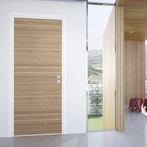 Einflügelige Tür / Holz / Sicherheit / bündig