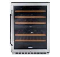 Weinkühlschrank für Wohnbereich / Unterbau / Einbau / aus Edelstahl