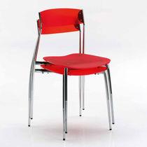 Moderner Stuhl / Stapel / aus Buche / Nussbaum