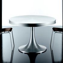 Moderner Tisch / Aluminium / rund