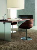 Moderner Tisch / Massivholz / Aluminium / Rechteckig