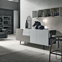 Modernes Sideboard / gestrichenes Metall / Laminat