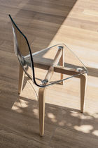Moderner Stuhl / aus Polycarbonat