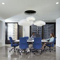 Konferenz-Sessel / modern / Textil / mit Rollen