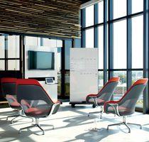 Konferenz-Sessel / modern / Leder / Textil