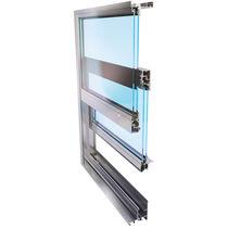 Vertikalschiebefenster / Aluminium / Doppelverglasung / Wärmedämmungen