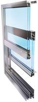 Vertikalschiebefenster / aus Stahl / Wärmedämmungen / für Geschäftsgebäude