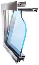 Platten-Vorhangfassade / aus Glas / aus Edelstahl