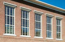Vertikalschiebefenster / Aluminium / Wärmedämmungen / für Geschäftsgebäude