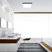 Moderne Deckenleuchte / quadratisch / Glas / Messing
